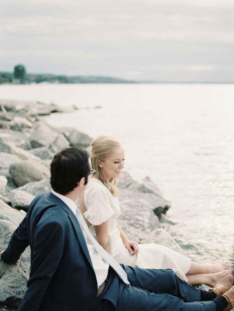 bride groom lakeshore